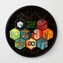 Math Game in black Wall Clock