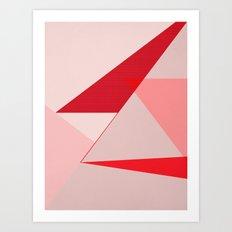 Geometric pink 02 Art Print