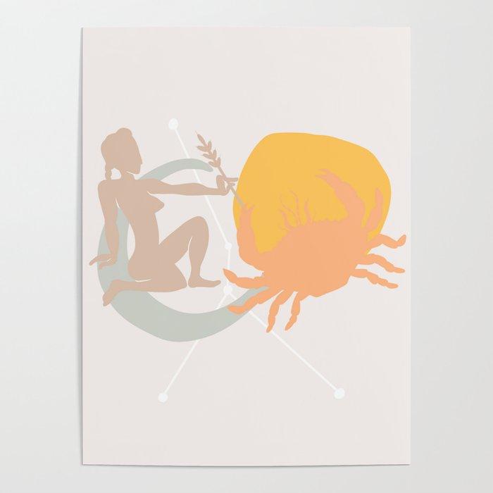 Cancer Sun Virgo Moon Poster by moderatelyneurotic