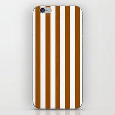 Vertical Stripes (Brown/White) iPhone & iPod Skin