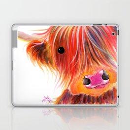 Scottish Highland Cow ' SWEET SATSUMA ' by Shirley MacArthur Laptop & iPad Skin