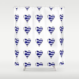 Flag of greece 3-Greek, Ελλάδα,hellas,hellenic, athens,sparte,aristotle. Shower Curtain