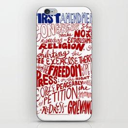 The First Amendment iPhone Skin