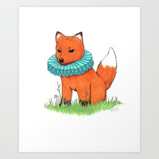 Fox Baby Art Print