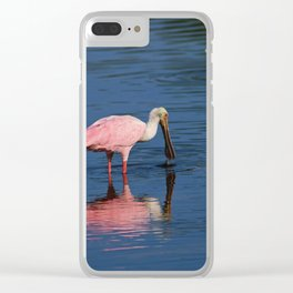 Roseate Spoonbill at Ding III Clear iPhone Case