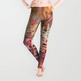 Colorful Buddha  Buddhism Artwork Leggings