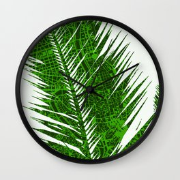 Palm tree in Rome Wall Clock