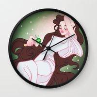 sailor jupiter Wall Clocks featuring Sailor Jupiter by Dixie Leota