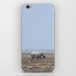 Lone White Elephant iPhone Skin