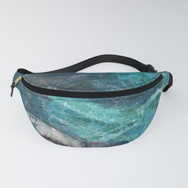 Cerulean Blue Marble Fanny Pack