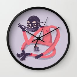 the cactus keeper Wall Clock
