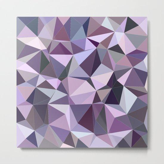 Happy purple triangles Metal Print