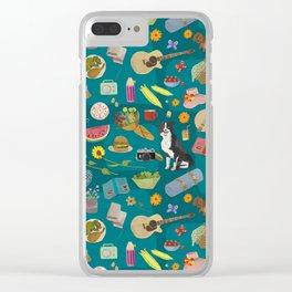 Summer Picnics Clear iPhone Case