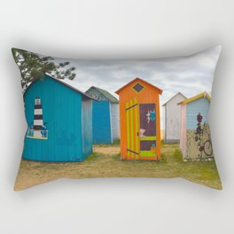 Beach huts Rectangular Pillow