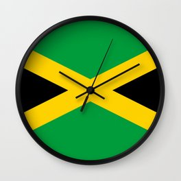 Jamaican Flag Wall Clock