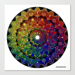 Mandala 46 - Psychedelic Mandala Rainbow series Canvas Print