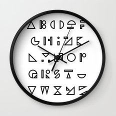 ABC outline Wall Clock