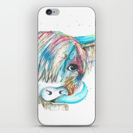 Highland Cattle full of colour iPhone Skin