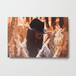 Lady between the leaves! Metal Print