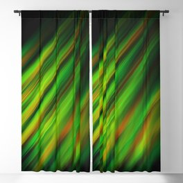 Colorful neon green brush strokes on dark gray Blackout Curtain