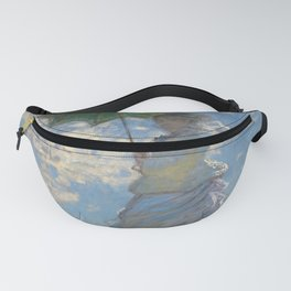 Woman with a Parasol - Madame Monet and Her Son Fanny Pack