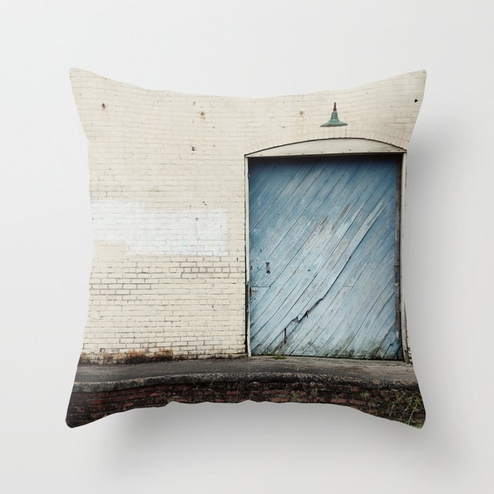 Big Blue Throw Pillows : Big Blue Door Throw Pillow by erinjohnsonphotography Society6