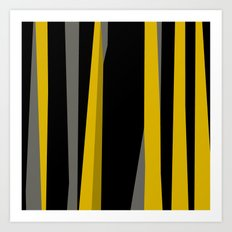 yellow gray and black Art Print