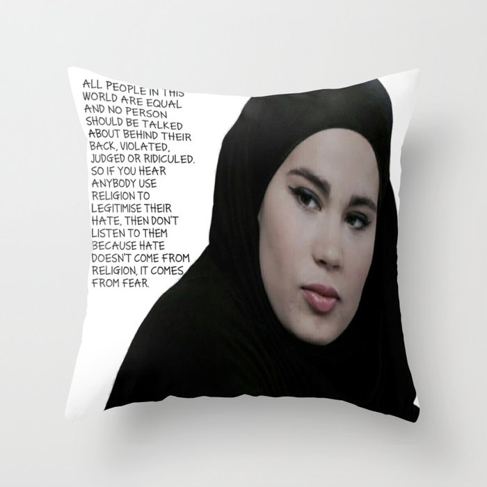 SKAM - Sana Bakkoush - All people in this world are equal Throw Pillow