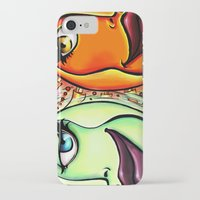 sun and moon iPhone & iPod Cases featuring Moon & Sun by spasticlizard
