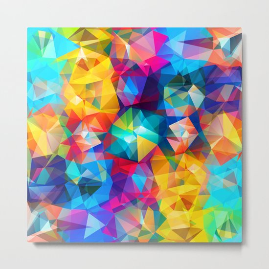 Summer Triangles Metal Print