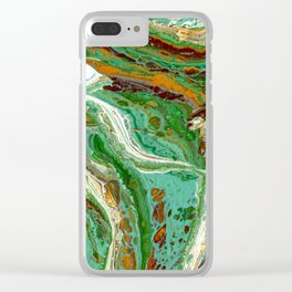 Forest Tide Clear iPhone Case