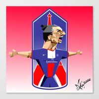 "zlatan Canvas Prints featuring ""I am Zlatan"" by Miguel Angel Illustrations"