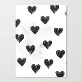 I drew a few hearts for you Canvas Print