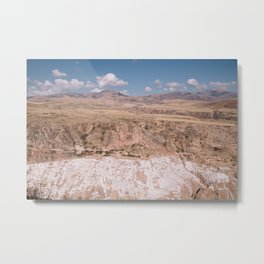 Salinera De Mara, Peru by Caroline Zhao Metal Print
