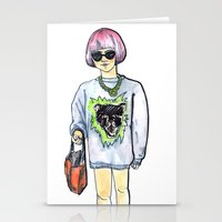 sweater Stationery Cards featuring Sweater by Juliette Dudley