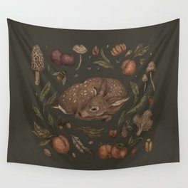 Foraging Fawn Wall Tapestry