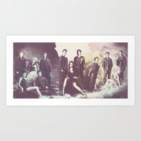 vampire diaries Art Prints featuring The Vampire Diaries TV Series by Nechifor Ionut