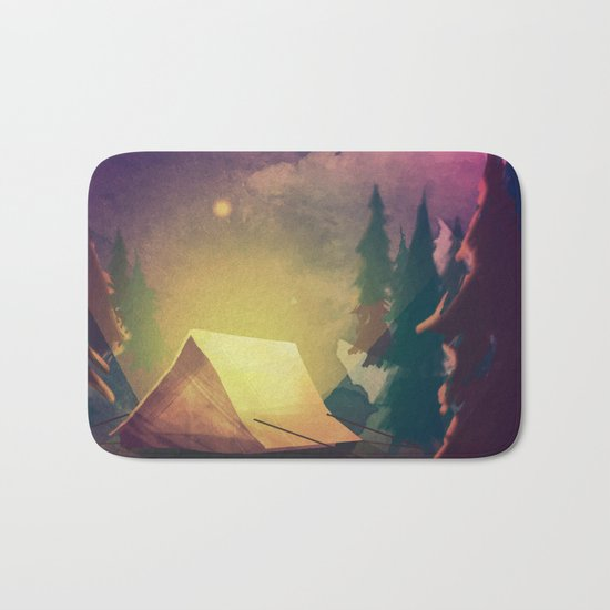 Night in th forest Bath Mat