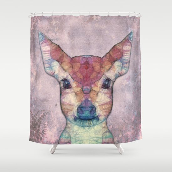 Abstract Fawn Shower Curtain
