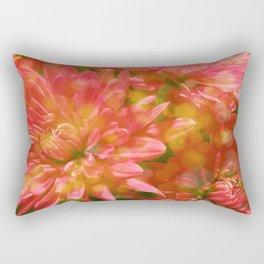Glowing Chrysanthemums Rectangular Pillow