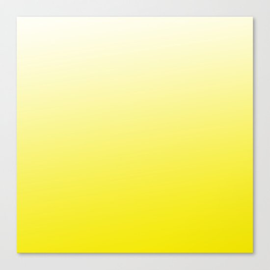 Simply sun yellow color gradient - Mix and Match with Simplicity of Life Canvas Print