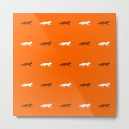 Orange Foxes! Metal Print