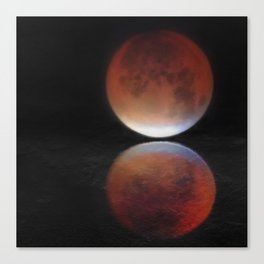 Super blood moon Canvas Print