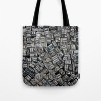 letters Tote Bags featuring Letters, Letters, Letters by Ehud Neuhaus