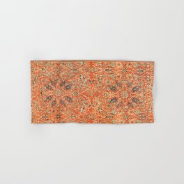 Antique Persian Sultanabad Rug Print Hand & Bath Towel