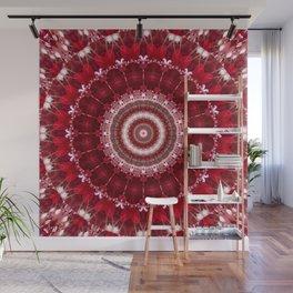 Mandala red Hearts Wall Mural
