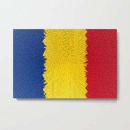 Extruded flag of Romania Metal Print