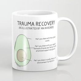 Trauma Recovery Avocado Model Coffee Mug