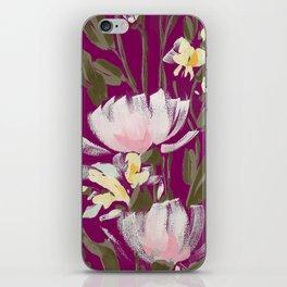 tulips on plum iPhone Skin