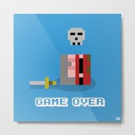 Game Over!... Metal Print